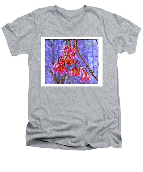 Maple Keys Men's V-Neck T-Shirt by Judi Bagwell