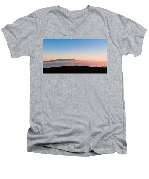 Mauna Loa Sunset Men's V-Neck T-Shirt