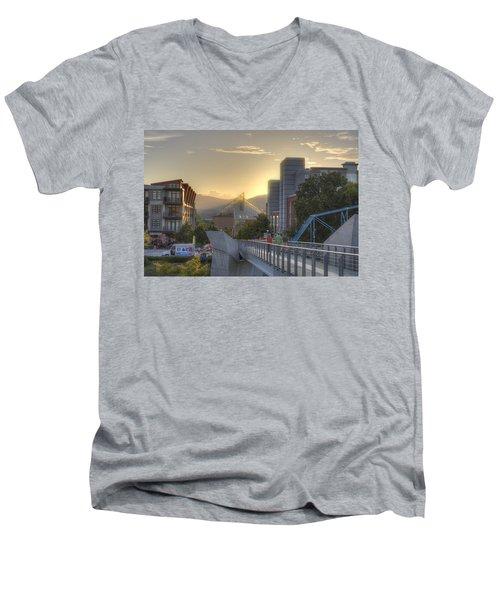 Meeting Bridges Men's V-Neck T-Shirt