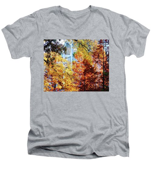 Men's V-Neck T-Shirt featuring the photograph Memphis College Of Art Overton Park Memphis Tn by Lizi Beard-Ward