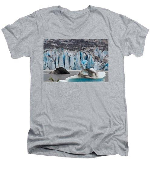 Mendenhall Glacier Juneau Alaska 1698 Men's V-Neck T-Shirt by Michael Bessler