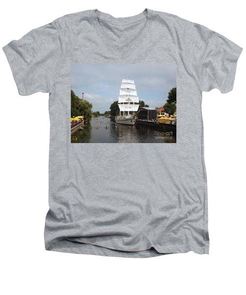 Merdijanas. Klaipeda. Lithuania. Men's V-Neck T-Shirt by Ausra Huntington nee Paulauskaite