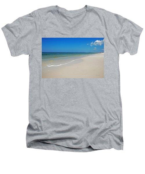 Mexico Beach Men's V-Neck T-Shirt by Kay Lovingood