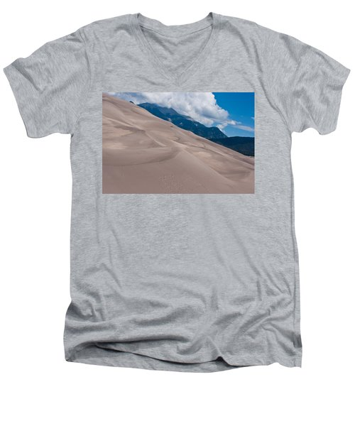 Men's V-Neck T-Shirt featuring the photograph Miles Of Sand by Colleen Coccia
