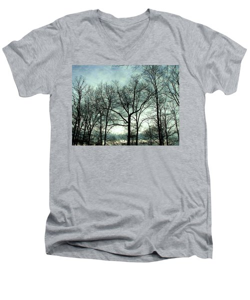 Men's V-Neck T-Shirt featuring the photograph Mirage In The Clouds by Pamela Hyde Wilson