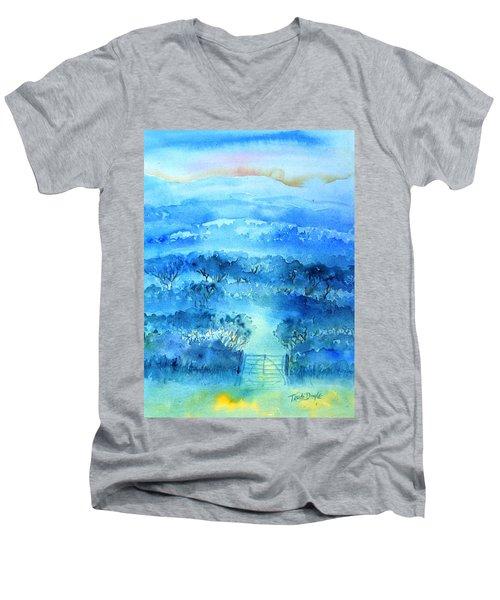 Misty Morning  Ireland  Men's V-Neck T-Shirt by Trudi Doyle