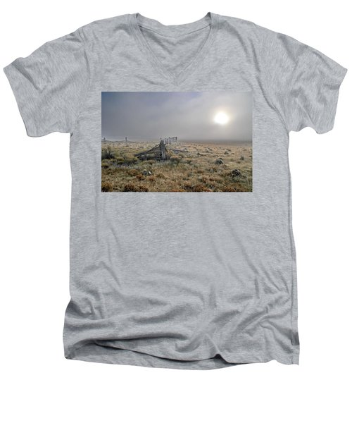 Misty Sunrise Men's V-Neck T-Shirt