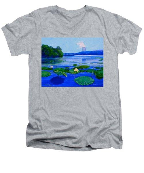 Modern Mississippi Landscape Men's V-Neck T-Shirt
