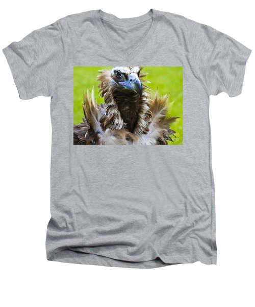 Monk Vulture 4 Men's V-Neck T-Shirt by Heiko Koehrer-Wagner