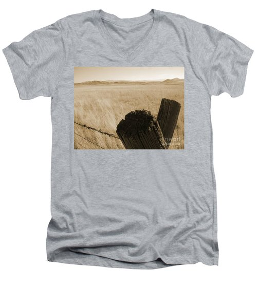 Montana Vista Men's V-Neck T-Shirt by Bruce Patrick Smith