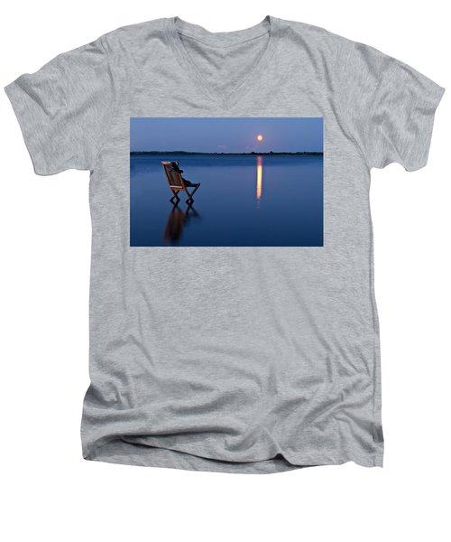 Men's V-Neck T-Shirt featuring the photograph Moon Boots by Gert Lavsen