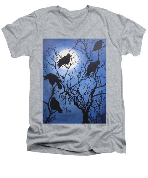 Moonlit Roost Men's V-Neck T-Shirt