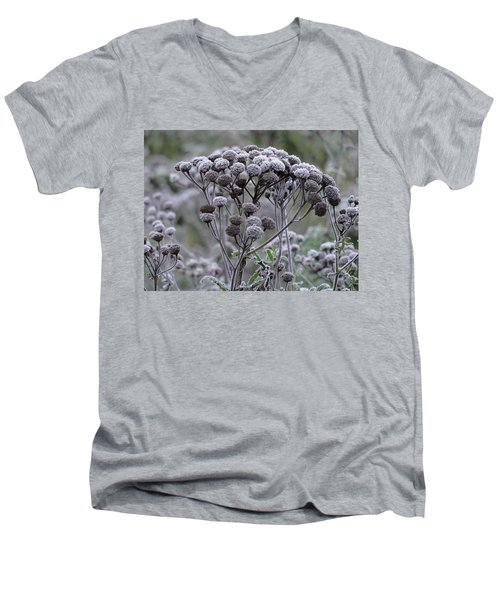 Men's V-Neck T-Shirt featuring the photograph Morning Frost by Tiffany Erdman