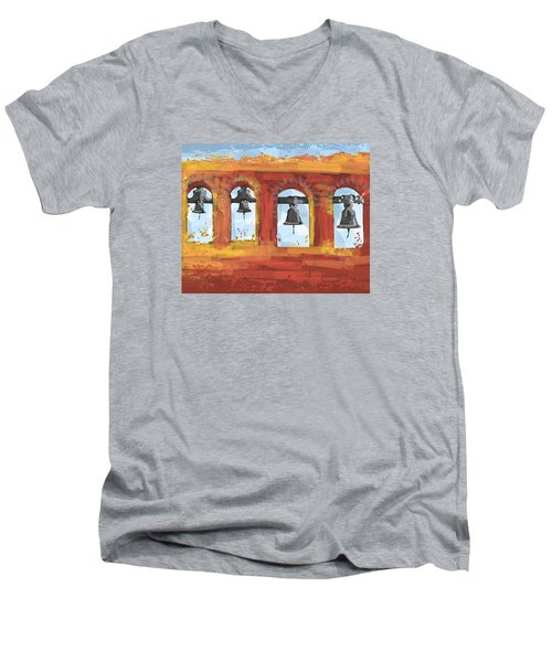 Morning Mission Bells Men's V-Neck T-Shirt