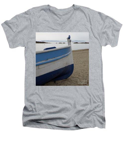 Morning Seascape Men's V-Neck T-Shirt by Lainie Wrightson