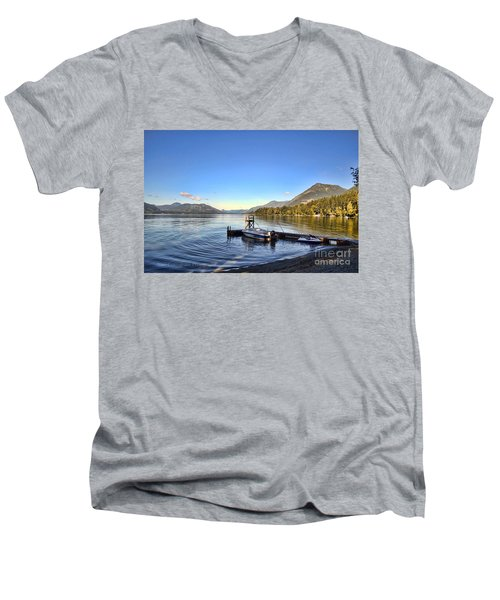 Mornings In British Columbia Men's V-Neck T-Shirt