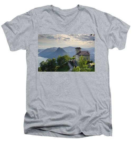 Mountain Bre Men's V-Neck T-Shirt