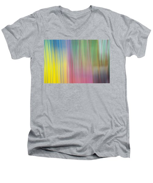 Moving Colors Men's V-Neck T-Shirt by Susan Stone