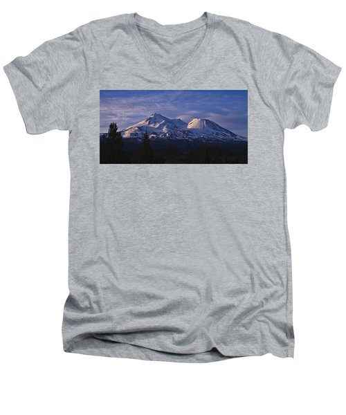 Mt Shasta Men's V-Neck T-Shirt