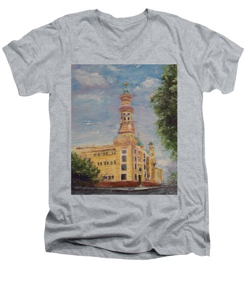 Murat Shrine Temple Men's V-Neck T-Shirt