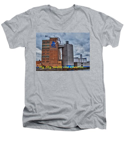 My City Smells Like Cheerios Men's V-Neck T-Shirt