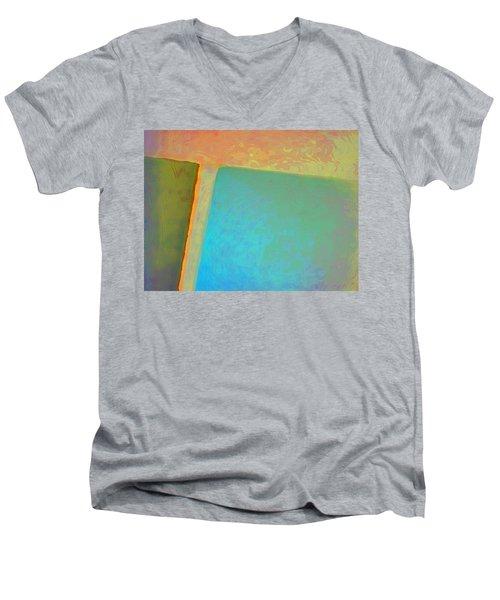 Men's V-Neck T-Shirt featuring the digital art My Love by Richard Laeton