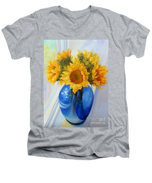 My Sunflowers Men's V-Neck T-Shirt
