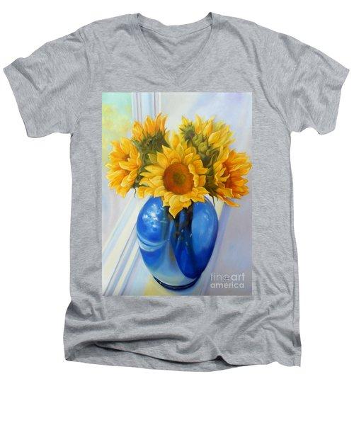 My Sunflowers Men's V-Neck T-Shirt