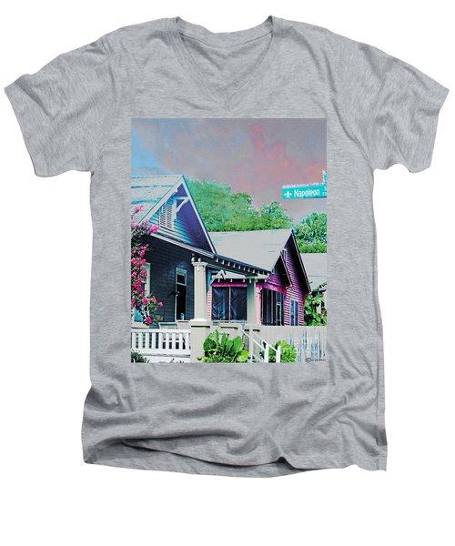 Napoleon Street Beauregard Baton Rouge Men's V-Neck T-Shirt