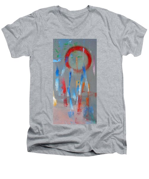 Native American Abstract Men's V-Neck T-Shirt by Charles Stuart