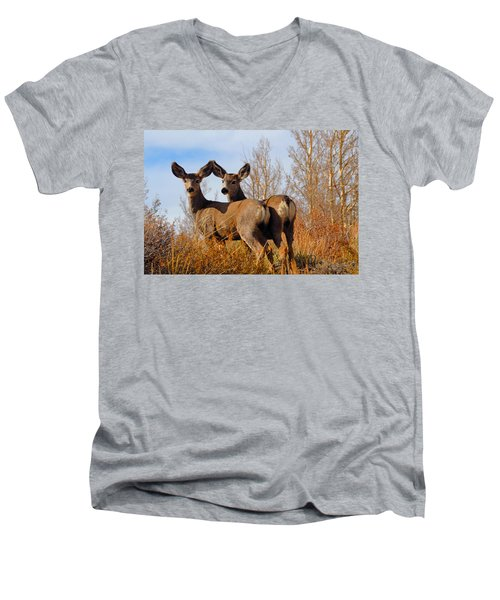 Men's V-Neck T-Shirt featuring the photograph Nature's Gentle Beauties by Lynn Bauer