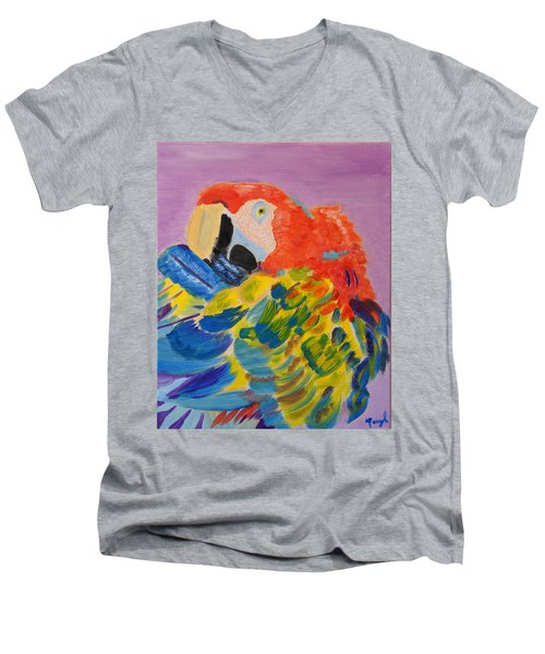 Nature's Painting Men's V-Neck T-Shirt