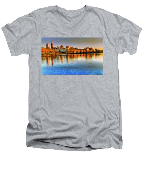 Novodevichy Convent Men's V-Neck T-Shirt