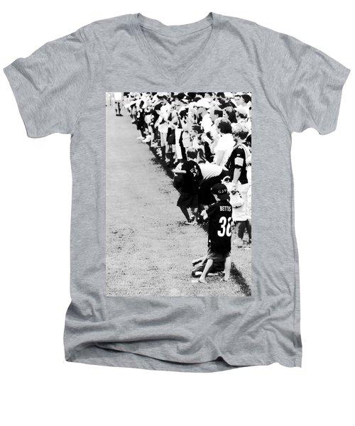 Number 1 Bettis Fan - Black And White Men's V-Neck T-Shirt