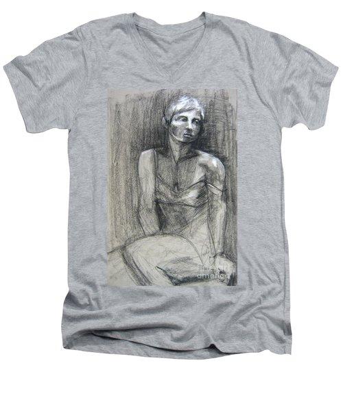 Off The Shoulder Men's V-Neck T-Shirt