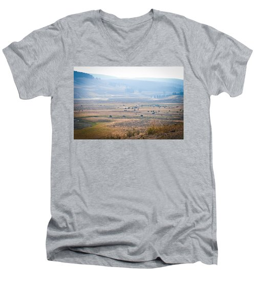 Men's V-Neck T-Shirt featuring the photograph Oh Home On The Range by Cheryl Baxter