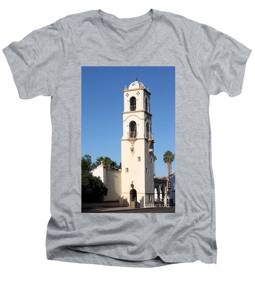 Ojai Post Office Tower Men's V-Neck T-Shirt