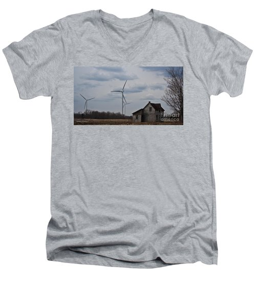 Men's V-Neck T-Shirt featuring the photograph Old And New by Barbara McMahon