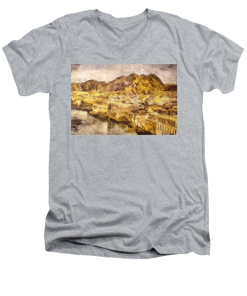 Old City Of Muscat Men's V-Neck T-Shirt