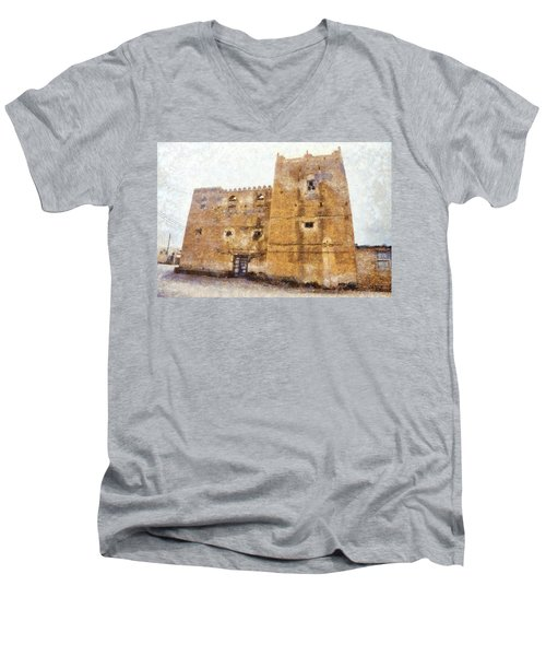 Old Mansion In Mirbat Men's V-Neck T-Shirt