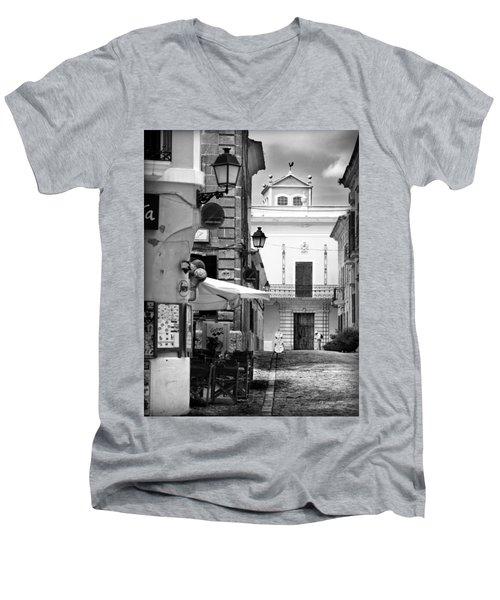 Men's V-Neck T-Shirt featuring the photograph Old Town by Pedro Cardona
