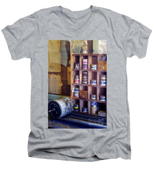 Men's V-Neck T-Shirt featuring the photograph Old West 6 by Deniece Platt