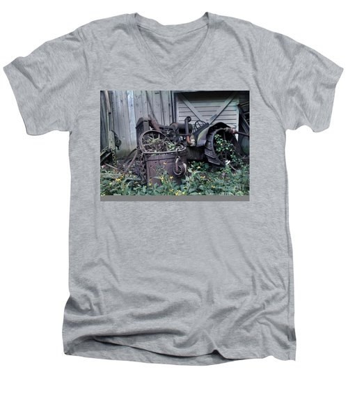 Older Days Men's V-Neck T-Shirt by Janice Spivey
