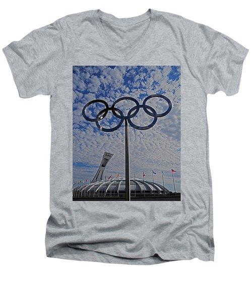 Olympic Stadium Montreal Men's V-Neck T-Shirt
