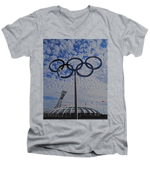 Olympic Stadium Montreal Men's V-Neck T-Shirt
