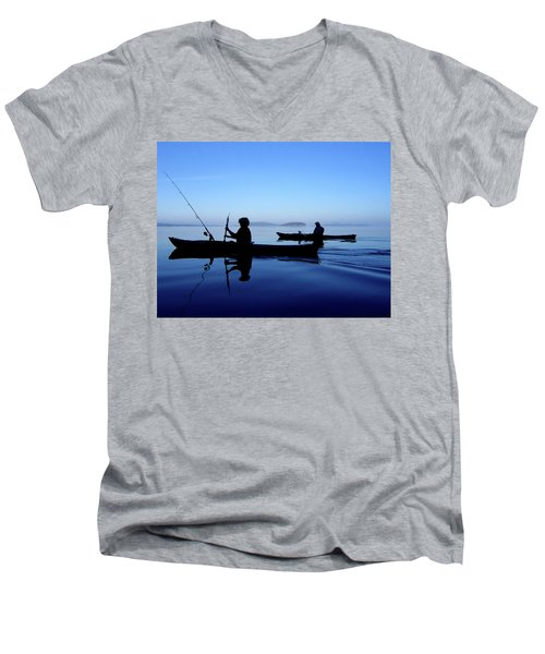 On The Deep Blue Sea Men's V-Neck T-Shirt