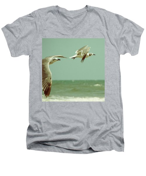 On The Wings Of A Seagull Men's V-Neck T-Shirt