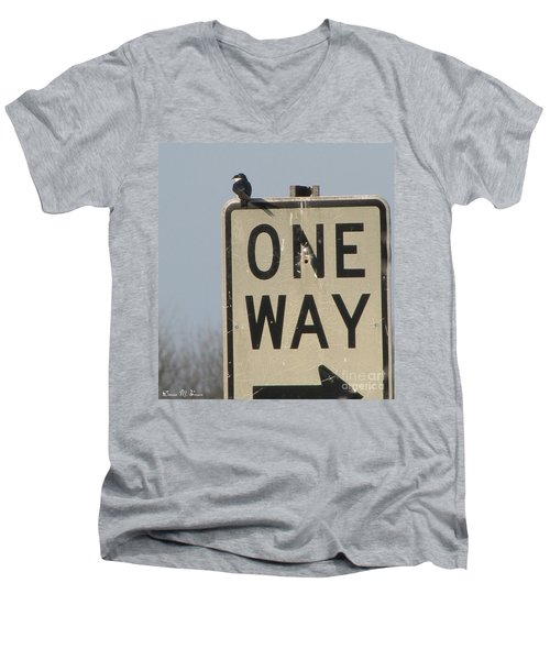 One Way Men's V-Neck T-Shirt