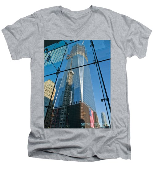 One Wtc Rising Men's V-Neck T-Shirt