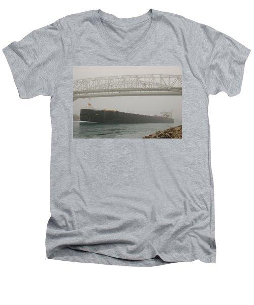 Only A Stones Throw Away Men's V-Neck T-Shirt by Randy J Heath
